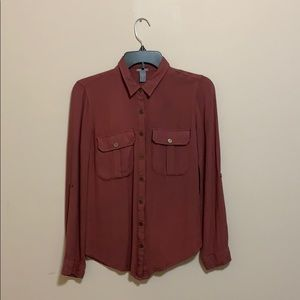 Charlotte Russe Long Sleeve Button Up